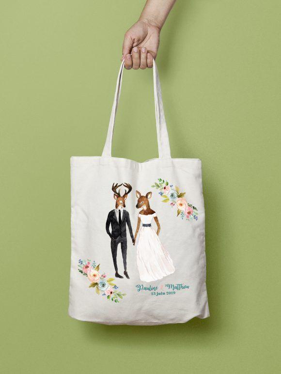 Tote bag mariage Champêtre par La Papeterie de Paris