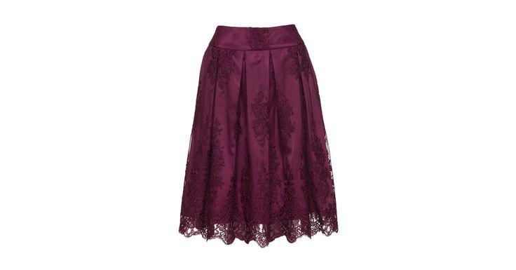 Forget Me Not Skirt Bordeaux   Skirts   Review Australia