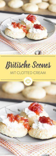 Britische Scones – das Original mit Clotted Cream