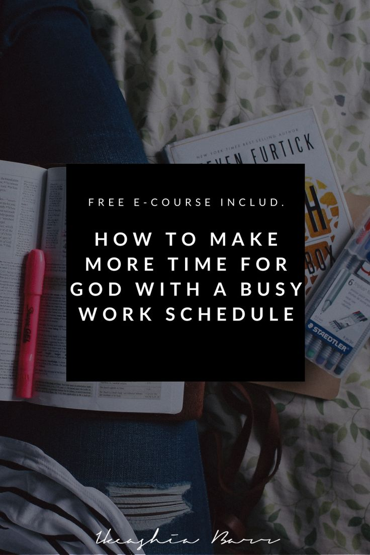 Bible Study: How To Make Time For God With A Busy Work Schedule. Do you find yourself not having enough time to spend with God due to your booked schedule? If so this blog post will give you step-by-step practical tips that will help you overcome this issue. Click the image to read the full post and get free course.