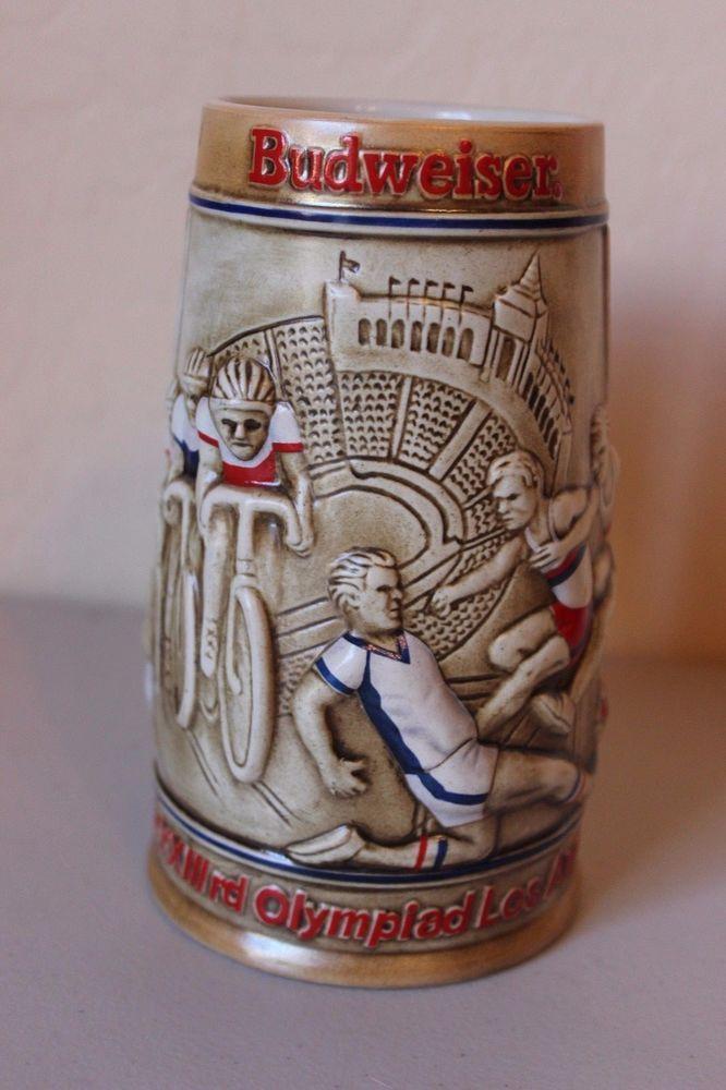 Budweiser Stein 1984 Los Angeles Olympic Games Mug Raised - NICE