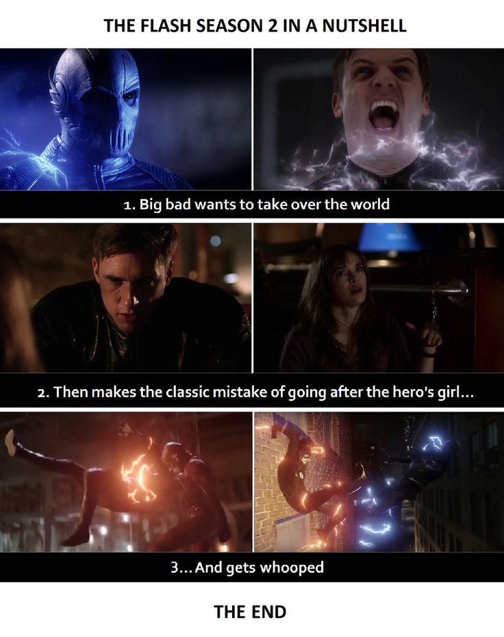 OMG!  The Flash season 2 in a nutshell #Snowbarry