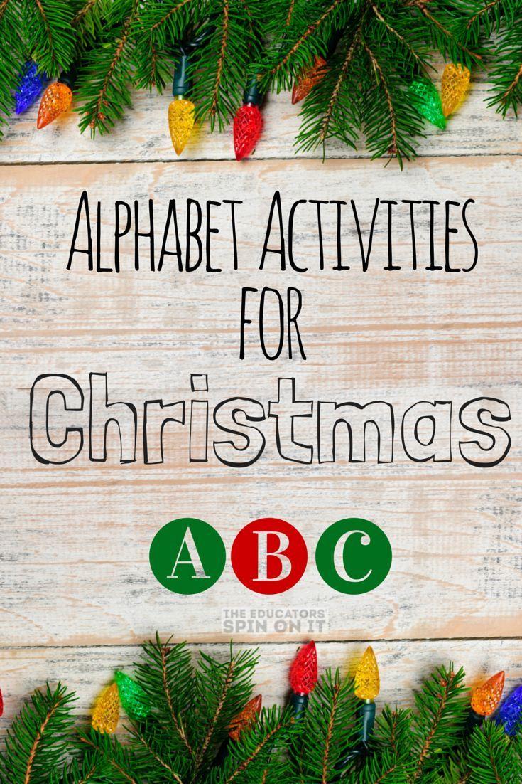 fir letter format%0A Alphabet Activities for Christmas