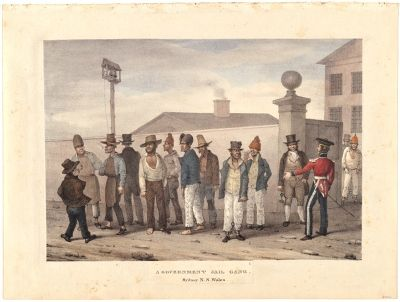 'Government Jail Gang, Sydney N S Wales', Augustus Earle, 1830. Courtesy National Gallery of Australia