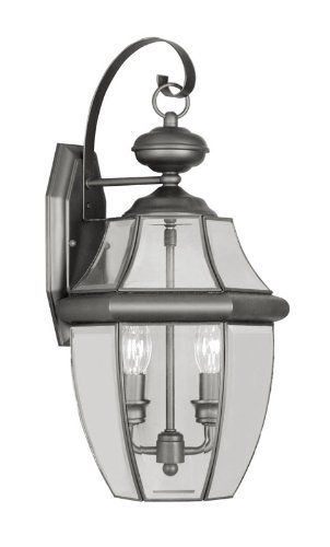 Livex Lighting 2251-04 Monterey 2 Light Outdoor Black Finish Solid Brass Wall Lantern  with Clear Beveled Glass by Livex Lighting. $150.85. From the Manufacturer                Monterey Solid Brass Outdoor Lighting strikes the perfect balance between classic styling and the elegance of beveled bound glass.  Monterey's variety of finishes and wide range of sizes offer you countless ways to complement your home's exterior décor.                                    Product...