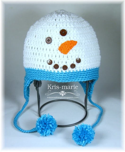 Crochet Snowman Hat by The Crafting Secretary (free pattern link)