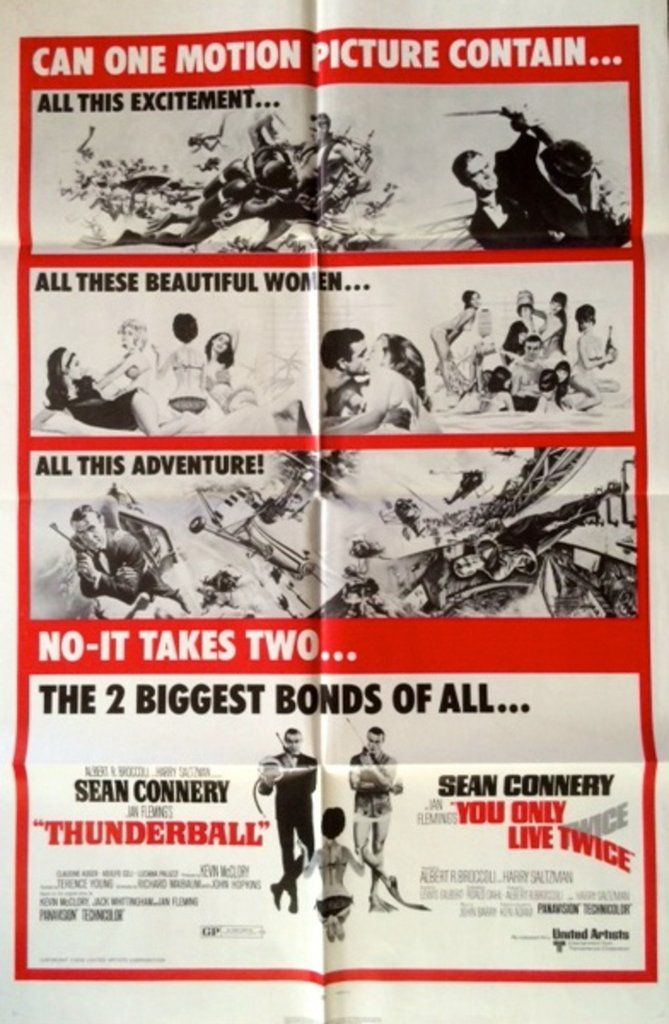 [link] Thunderball is a 1965 British spy film and the fourth in the James Bond series to be produced by Eon Productions, starring Sean Connery as the fictional MI6 agent James Bond https://en.wikipedia.org/wiki/Thunderball_(film) (fr=Opération Tonnerre)
