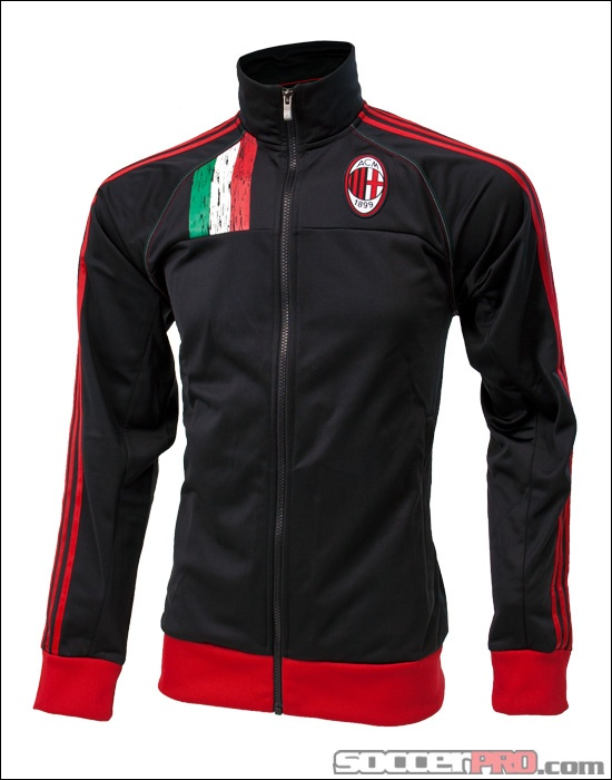 adidas AC Milan Core Track Top - Black with Red