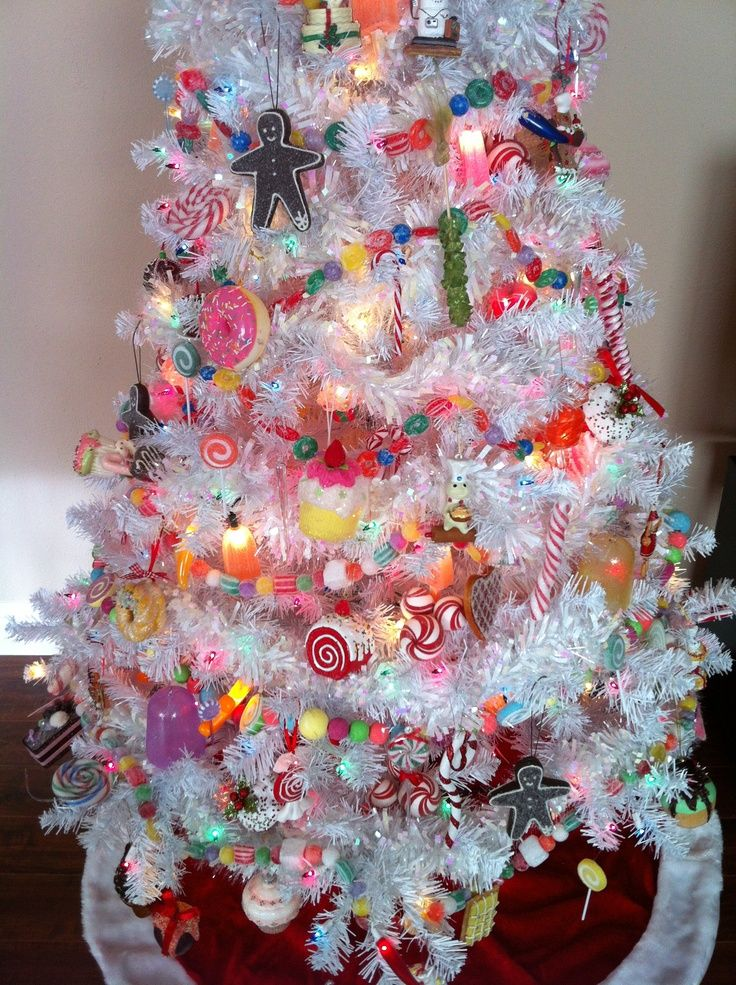 Christmas candy theme tree. Repinned from Vital Outburst clothing vitaloutburst.com: