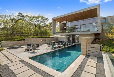 Façade Terrasse & Piscine - Hampton-Home Par Barnes Coy Architects - Hamptons, USA