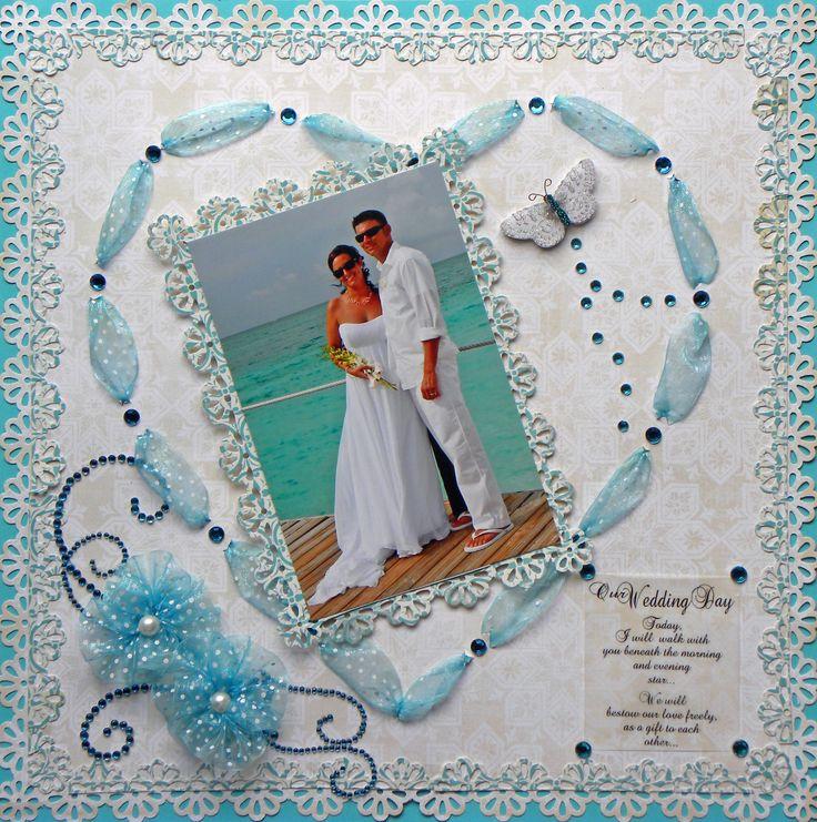 Our Wedding Day - Scrapbook.com #weddingscrapbooks