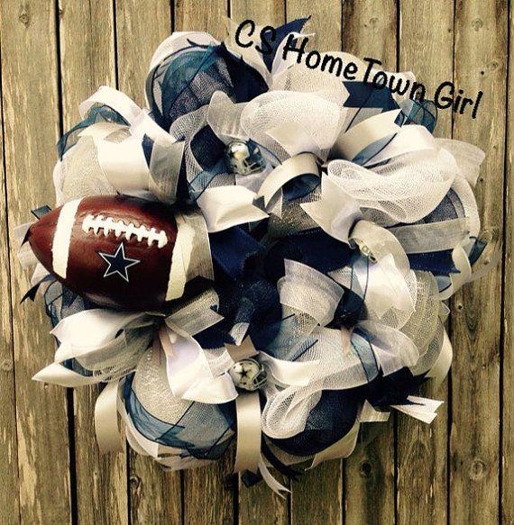 Dallas Cowboys Football Wreath by CSHomeTownGirl on Etsy