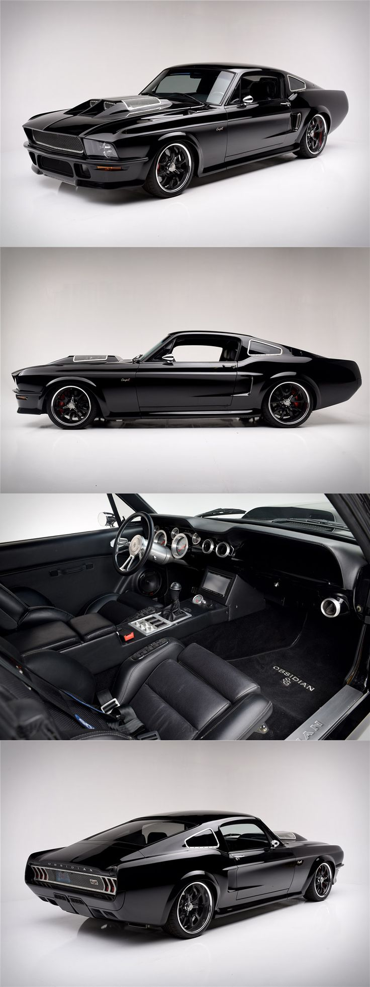 obsidian 1967 ford mustang supercharged fastback