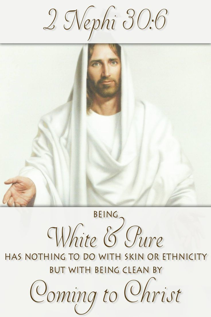 "The Book of Mormon speaks of Nephi's descendants becoming a ""white and delightsome people."" Did you know that Joseph Smith changed this to read a ""pure and delightsome people""? Why might he have made this change and what implications might it have for what the Book of Mormon says about race? http://www.knowhy.bookofmormoncentral.org/content/what-does-it-mean-to-be-a-white-and-delightsome-people  #Race #JosephSmith #Pure #Mormon #LDS #BookofMormon #Knowhy"