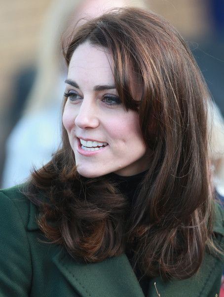 Catherine, Duchess Of Cambridge arrives for her visit to St Catherine's Primary School in Edinburgh on February 24, 2016 in Edinburgh, Scotland.