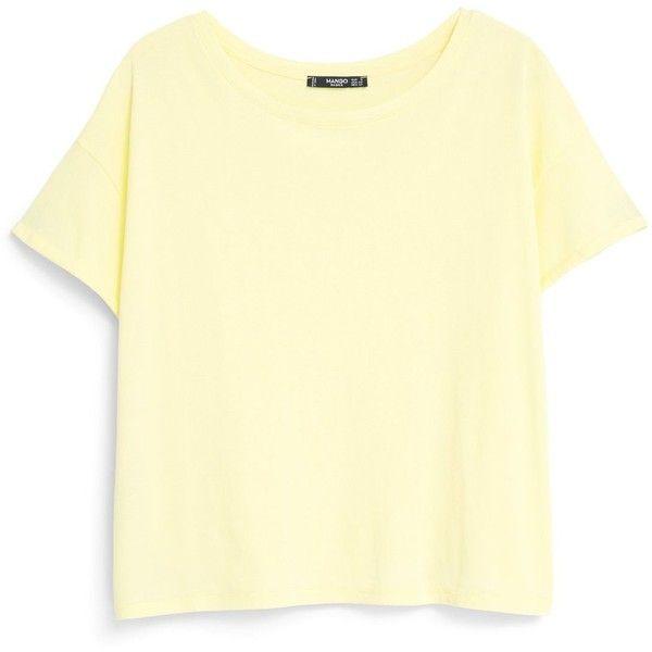 Mango Cotton t-shirt found on Polyvore
