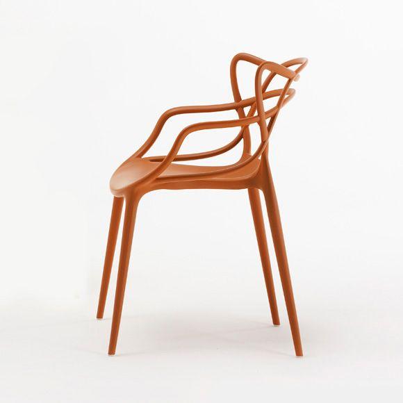Masters Stol, Orange - Philippe Starck & Eugeni Quitllet - Kartell - RoyalDesign.se