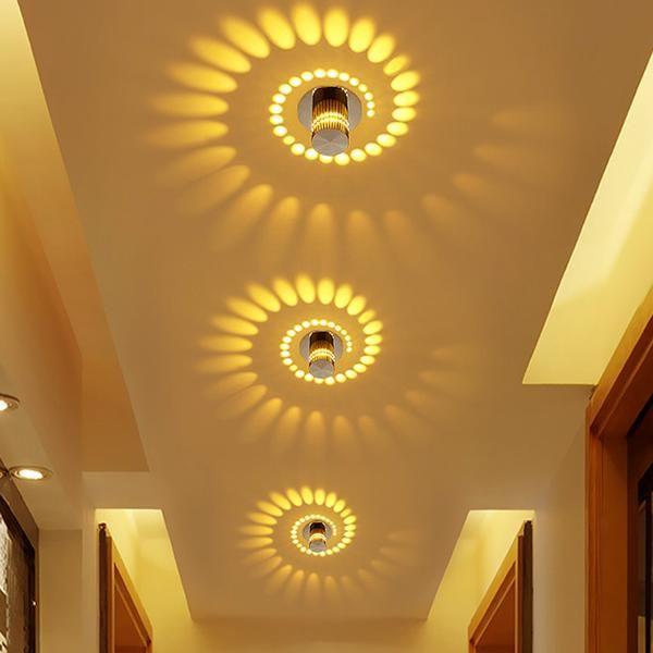 Modern Swirl Led Ceiling Light Led Ceiling Lights Modern Led Ceiling Lights Corridor Lighting