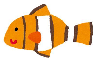 クマノミ 魚の絵アイデア