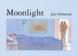 """""""Moonlight"""", by Jan Ormerod - Cosy depiction of a bedtime scenario that will be familiar to many. See also """"Sunshine"""", by Jan Ormerod."""