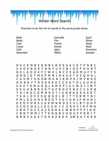 Massif image for winter word search printable