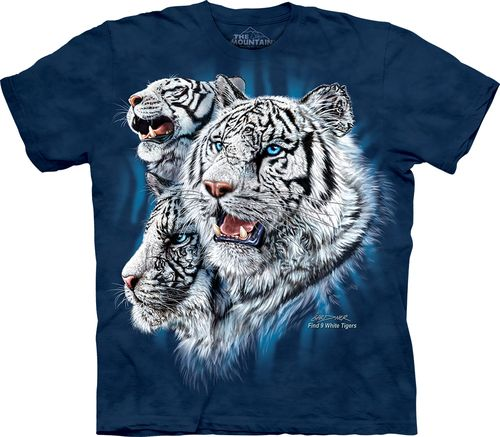 Find 9 White Tigers T-Shirt