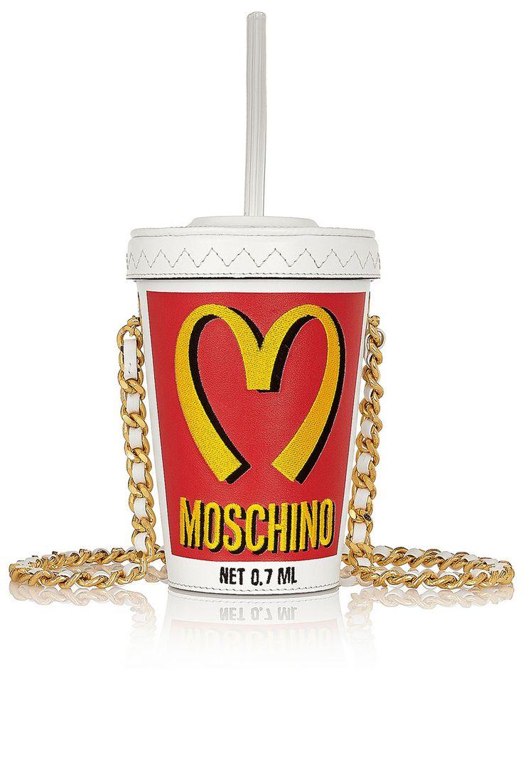 Milkshake Embroidered Leather Shoulder Bag, £600, Moschino