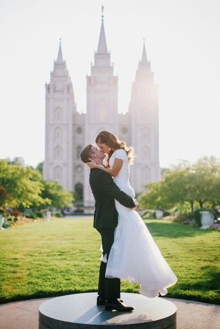 LDS Temple Wedding Couple Photography