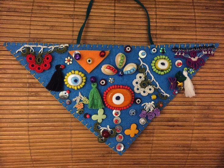 nazarlık, amulet, felt, feltro, nazar, turkish eye, handmade, design, sipariş