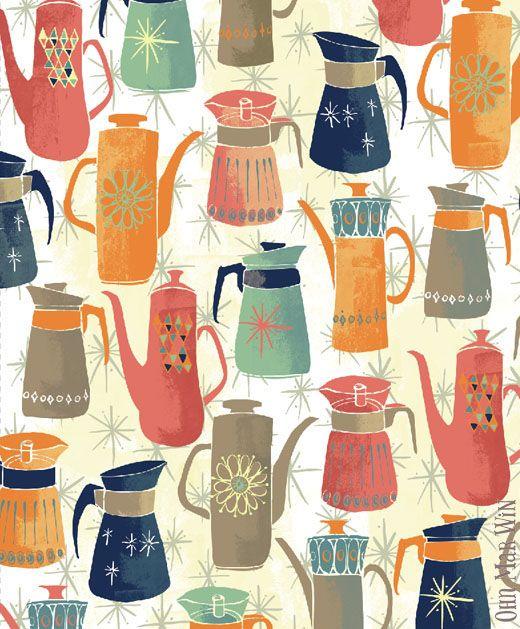 Retro Coffee Pots BLOG — Ohn Mar Win Illustration