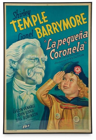 """Love, Shirley Temple, Take Two: From Schoolgirl to Storybook: 109 Spanish Film Poster """"La Pequena Coronela"""" for Shirley Temple's 1935 Film """"The Little Colonel"""""""
