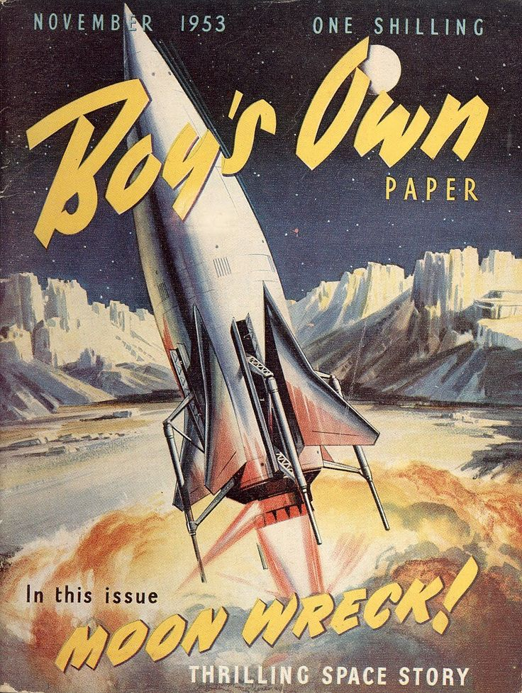 Boys Own Books and Papers The early days of space travel #Vintage books www.newpublisherhouse.com