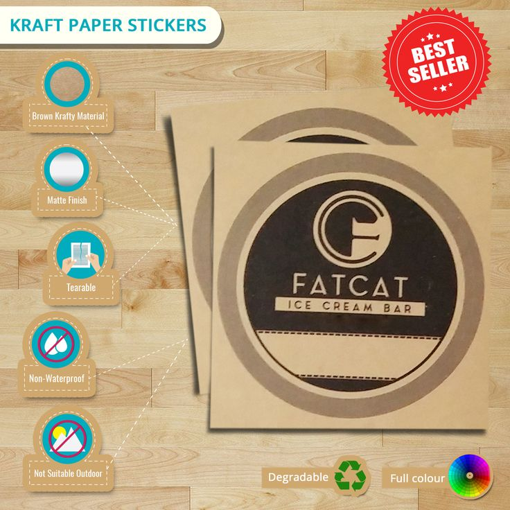 Searching for a perfect vintage style on your #labels? Try our #Kraft #PaperStickers now! Don't think too long, check infographic now! #stickers #customstickers #stickerprinting #vintage