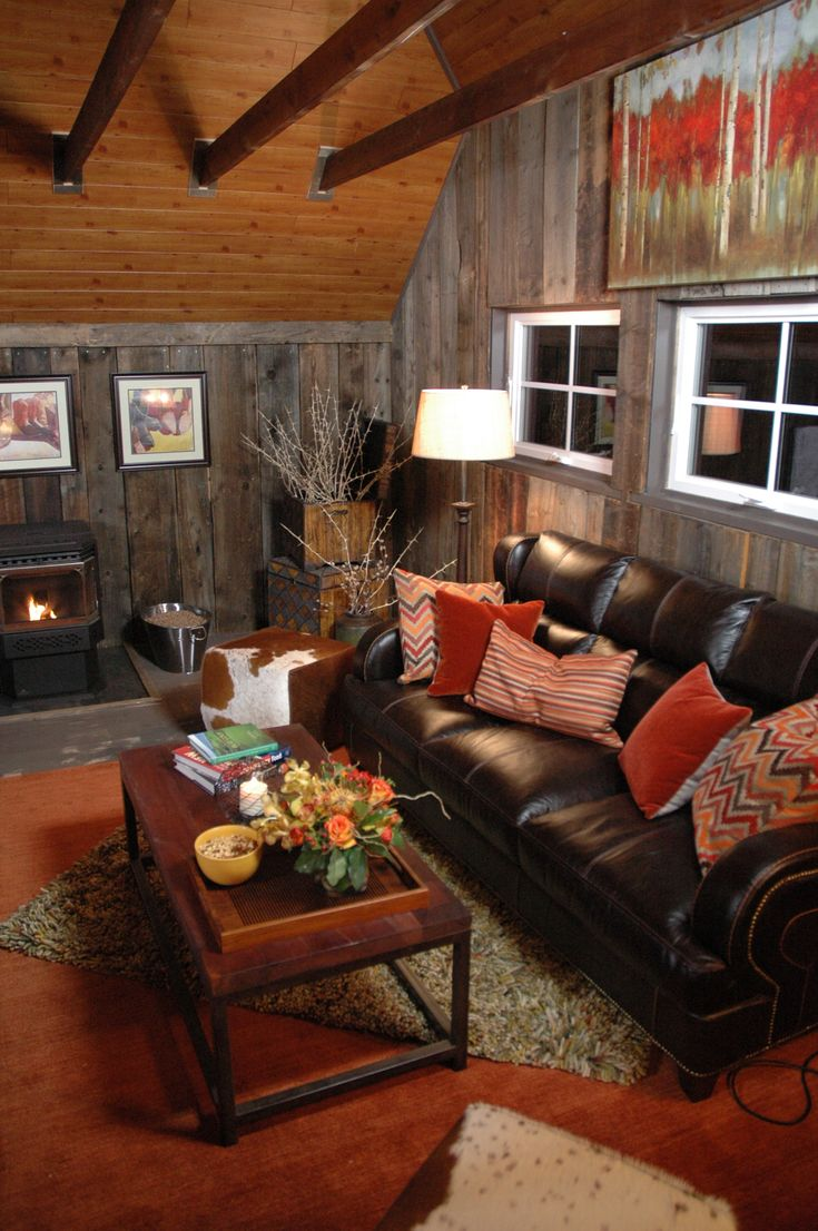 Wooden Man Cave Accessories : Rust colors with barn wood western home decor