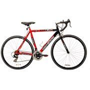 700c Genesis RoadTech Men's Road Bike, Black/Red  $  234.47   Road Bikes Product Features       Road Bikes Product Description   The 700c Genesis RoadTech Mens Road Bike is built around a lightweight aluminum road bike frame. You can stop quickly with the alloy calipers and brake levers, and the high-profile alloy Vitesse racing rims look as good as they perform. Shimano shifters allow you to shift without taking your hands off the handlebars, providing safety and confidence. A Shima..
