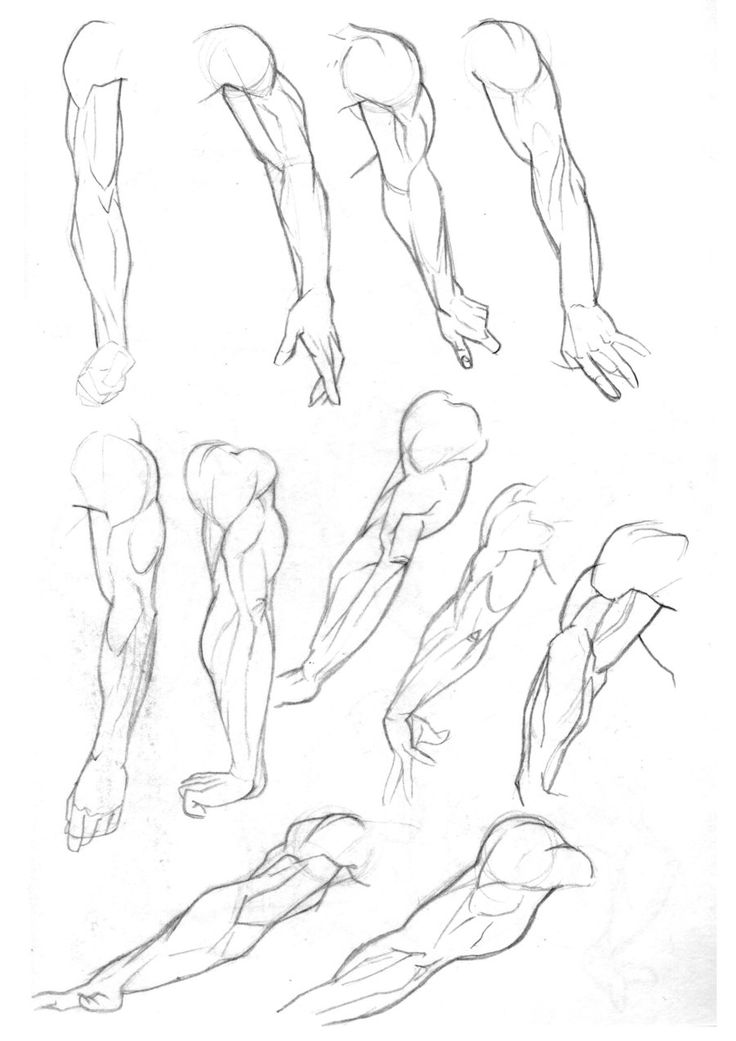 how to draw an arm pointing at you