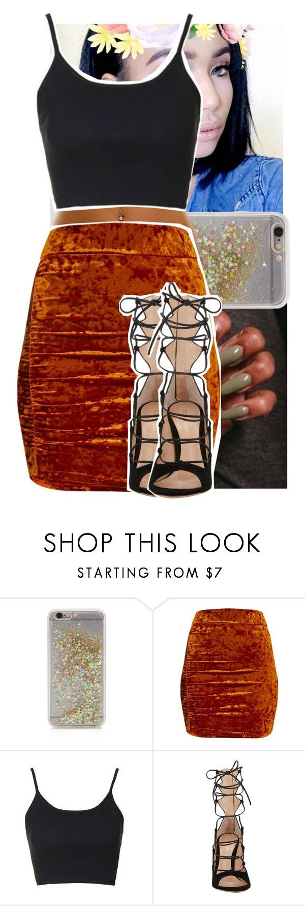 """""""."""" by theyknowtyy ❤ liked on Polyvore featuring ban.do, Topshop and Gianvito Rossi"""