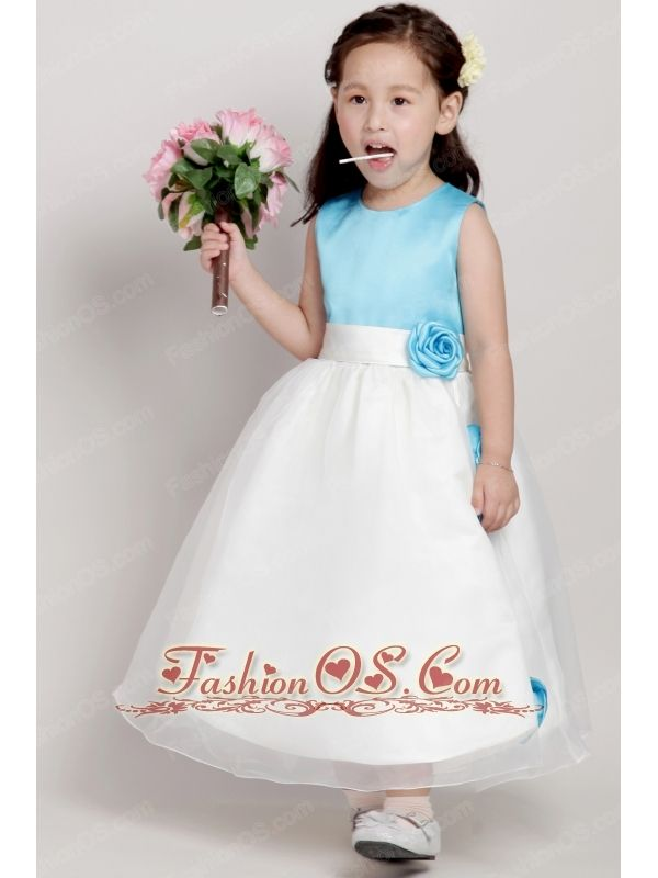 Scoop Taffeta Flower Girls Dress