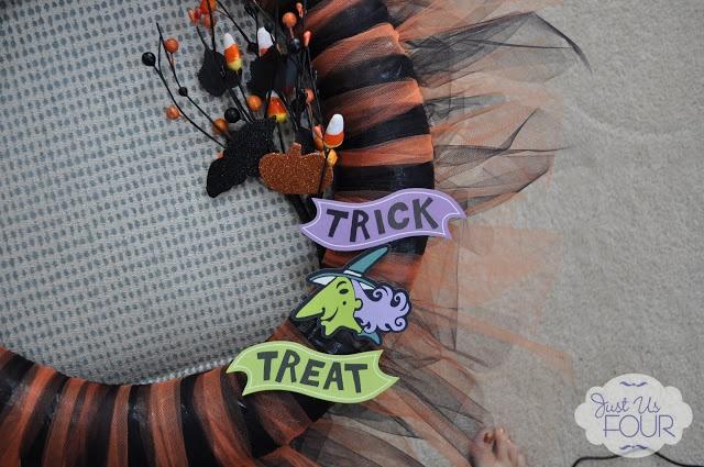 Just Us Four: Halloween Tulle Wreath