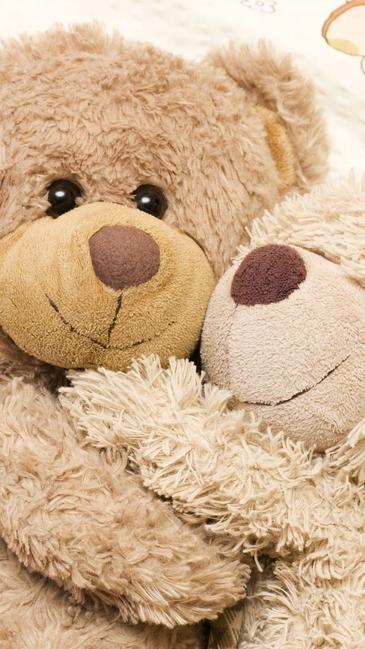 Cute and lovely Teddy Hugs iPhone 6 Wallpapers. Tap to see more iPhone wallpapers, lockscreen, fondos - @mobile9