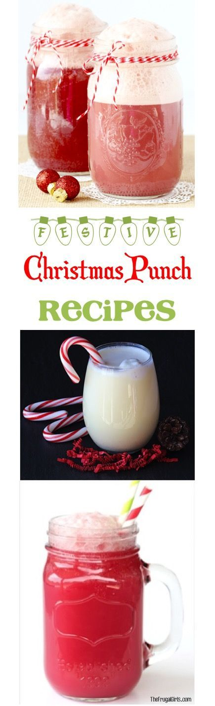 Christmas Punch Recipes for Kids and adults!  The perfect festive party punches to serve up at your holiday parties!  Easy to make and SO delicious!