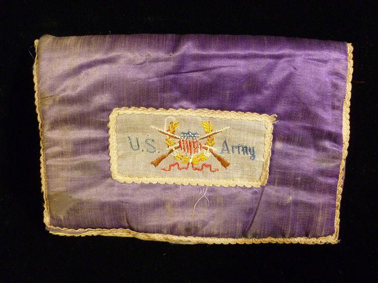 Fantastic US Army Silk 48 Star Flag Battlefield Pillowcase from World War I | eBay