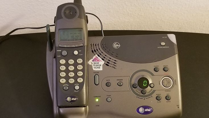 at&t 5.8 ghz Cordless telephone answering system 3358 caller id/call waiting EUC #ATT