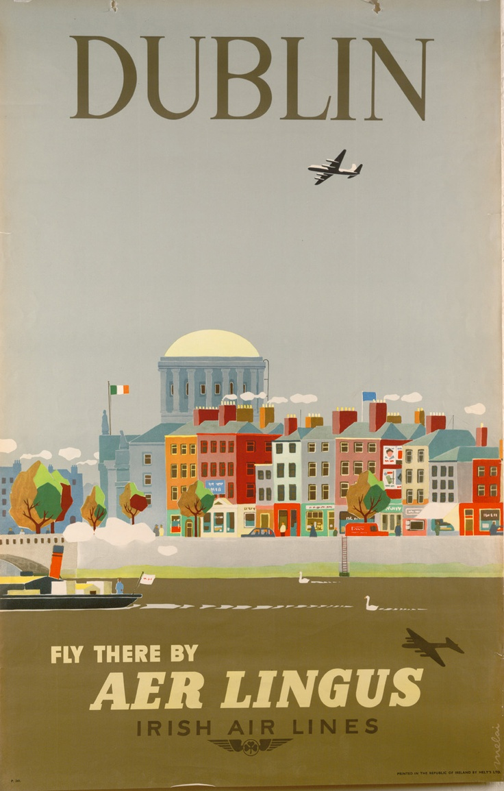 Poster design dublin - This Poster Features A Cityscape Of The North Quays Of Dublin S River Liffey Showing The