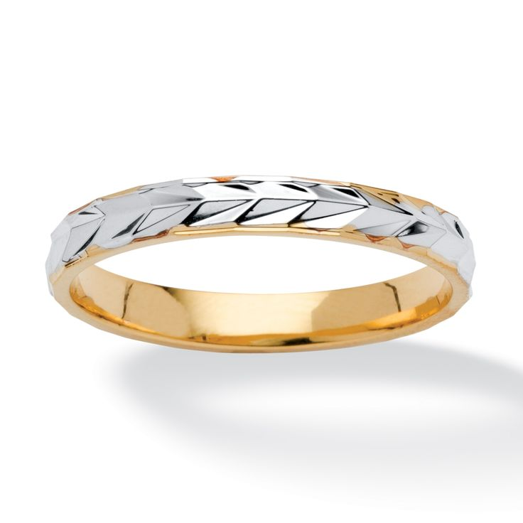 A special design for your special day. Elegant two-tone 14k gold-plated band…