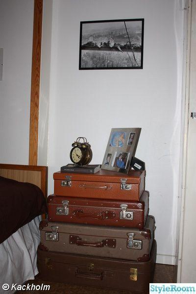 resväskor,nattduksbord,shabby,industri