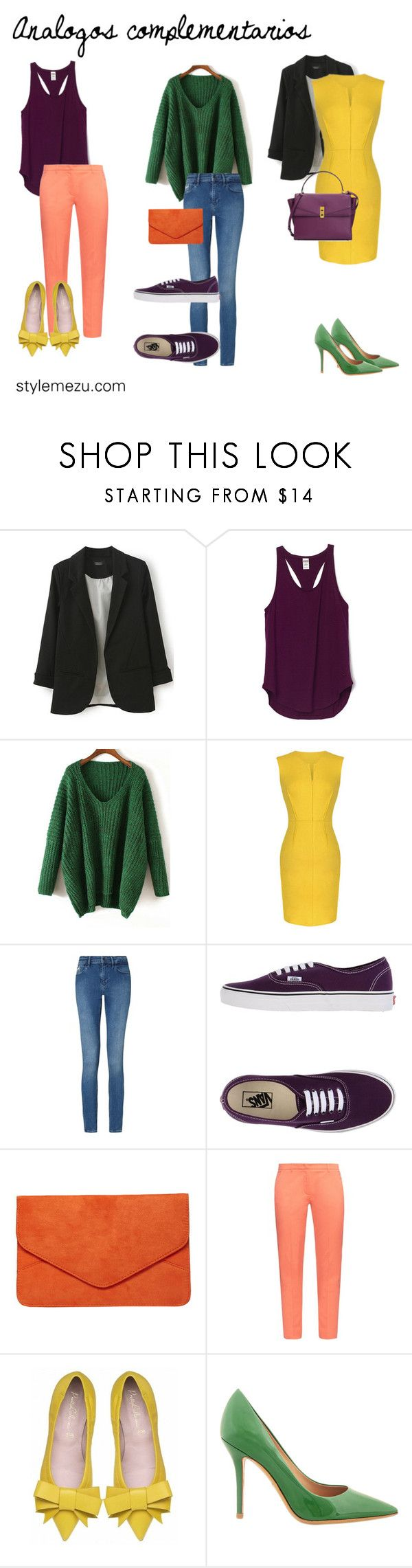 colores análogos by stylemezu on Polyvore featuring Weekend Max Mara, Calvin Klein, Salvatore Ferragamo, Vans, Henri Bendel and Dorothy Perkins
