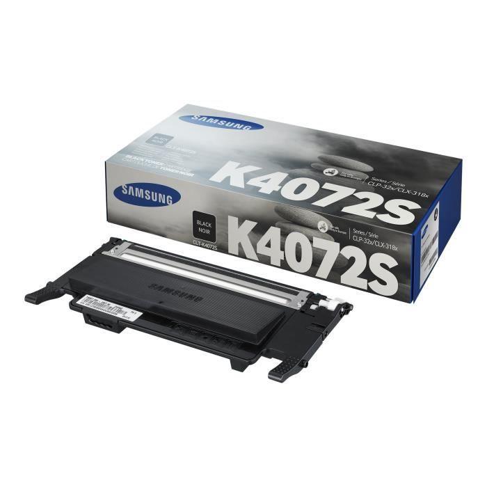 Cartouche de toner noir Samsung CLT-K4072S (SU128A) pour CLP-320/SS060A/CLX-3185 Series