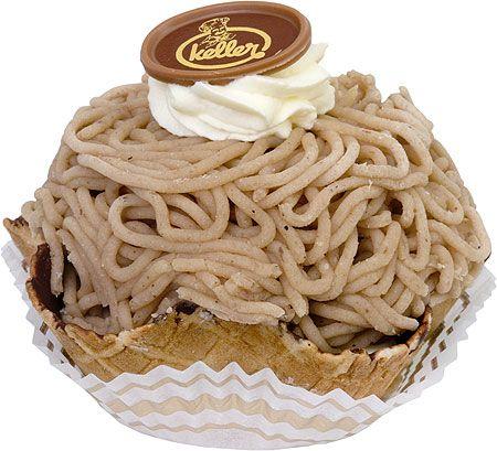 Vermicelles, a Swiss dessert made from chestnut puree