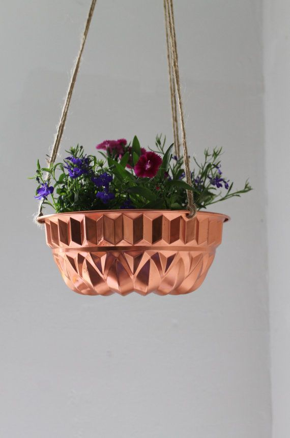 $35?! Try $2 from the thrift store...Copper Bundt Cake Pan Planter